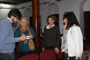 Емануеле Микели с организаторите. Снимка: Център за творческо обучение
